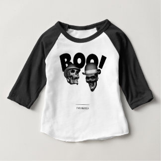 Camiseta Para Bebê Vaia de dois crânios!