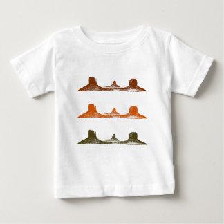 Camiseta Para Bebê Vale do monumento, 3 montanhas, 3 cores