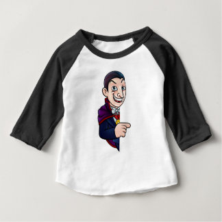 Camiseta Para Bebê Vampiro do Dia das Bruxas dos desenhos animados