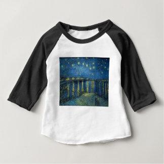 Camiseta Para Bebê Van Gogh: Noite estrelado sobre o Rhone