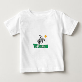 Camiseta Para Bebê Vaqueiro de Wyoming