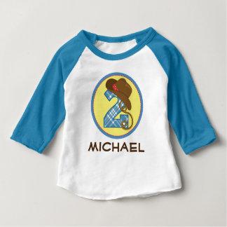 Camiseta Para Bebê Vaqueiro do segundo aniversário eu sou T