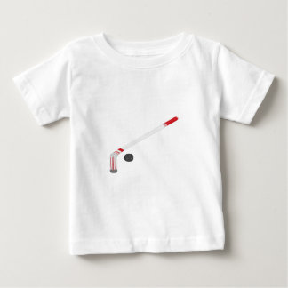 Camiseta Para Bebê Vara e disco de hóquei em gelo