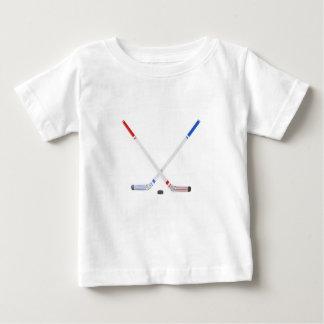 Camiseta Para Bebê Varas e disco de hóquei em gelo