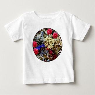 Camiseta Para Bebê Variedade de flores secadas