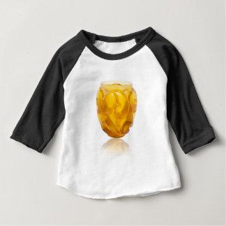 Camiseta Para Bebê Vaso amarelo do redemoinho do art deco