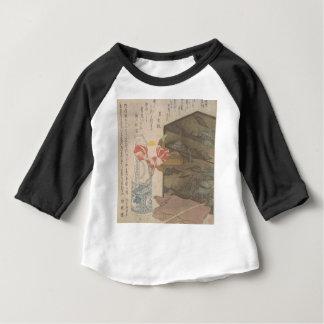 Camiseta Para Bebê Vaso de flor e caixa da laca - chinês