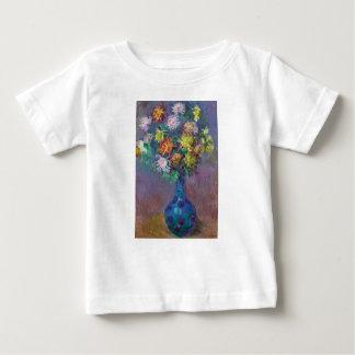 Camiseta Para Bebê Vaso dos crisântemos Claude Monet