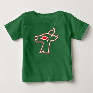 Camiseta Para Bebê Veado vermelho de néon
