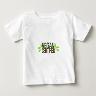 Camiseta Para Bebê Vegan certificado
