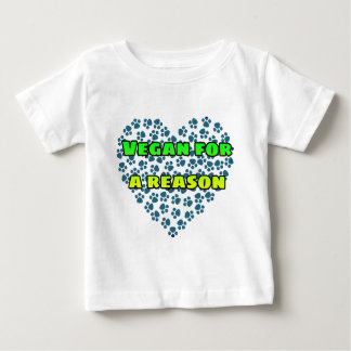 Camiseta Para Bebê Vegan para uma razão