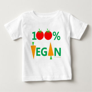 Camiseta Para Bebê Vegetais bonitos dos desenhos animados do Vegan do