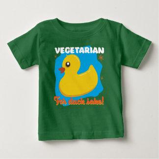 Camiseta Para Bebê Vegetariano para a causa do pato