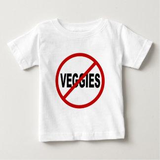 Camiseta Para Bebê Vegetarianos do ódio Veggies/No permitidos a