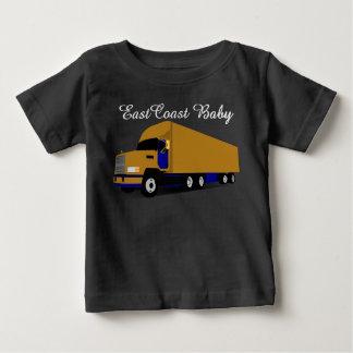 Camiseta Para Bebê Veículo com rodas do caminhão dezoito do