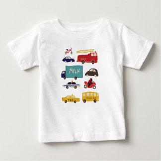 Camiseta Para Bebê Veículos