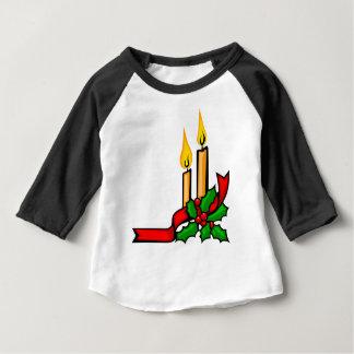 Camiseta Para Bebê Velas do Natal