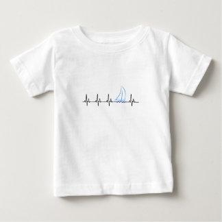 Camiseta Para Bebê Veleiro engraçado da pulsação do coração da