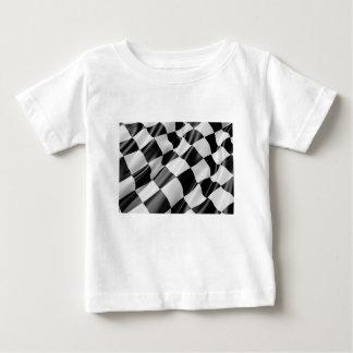Camiseta Para Bebê Velocidade preto e branco do revestimento da