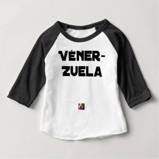 Camiseta Para Bebê VÉNER-ZUELA - Jogos de palavras - François Cidade