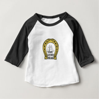 Camiseta Para Bebê ventos e mar afortunados