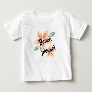 Camiseta Para Bebê Verão floral - praia por favor