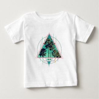 Camiseta Para Bebê Verão geométrico Palm Beach do calif do vintage