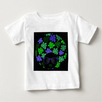 Camiseta Para Bebê Verde & azul da diva do Afro