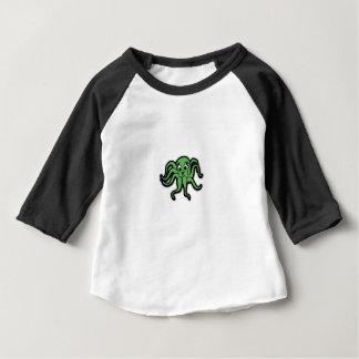 Camiseta Para Bebê verde do miúdo do calamar