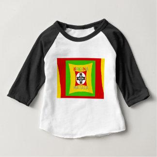 Camiseta Para Bebê Verde dourado vermelho da cor de Hakuna Matata