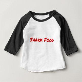 Camiseta Para Bebê Vermelho da comida do tubarão