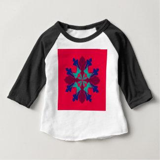 Camiseta Para Bebê Vermelho de Ethno da mandala do design