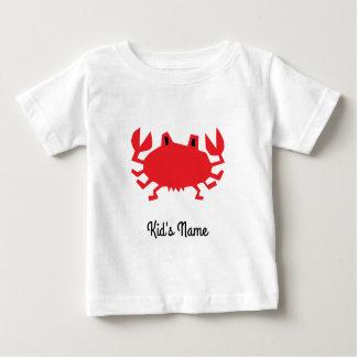 Camiseta Para Bebê Vermelho do caranguejo do mar