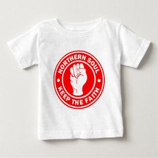 Camiseta Para Bebê vermelho do norte do logotipo da alma