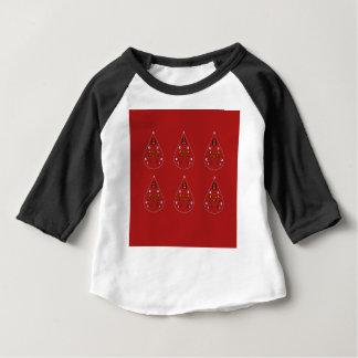 Camiseta Para Bebê Vermelho tirado mão de Paisleys. Trabalhos