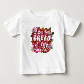 Camiseta Para Bebê Verso cor-de-rosa da bíblia da tipografia do