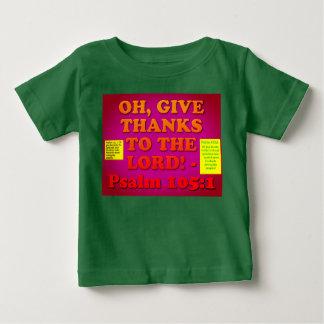 Camiseta Para Bebê Verso da bíblia do salmo 105: 1.