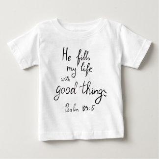 Camiseta Para Bebê Verso da bíblia pela cruz de Angela