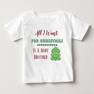 Camiseta Para Bebê Veste do Natal do irmão do bebê