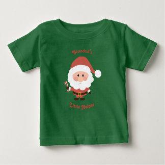 Camiseta Para Bebê Veste pequena do ajudante do Grandad