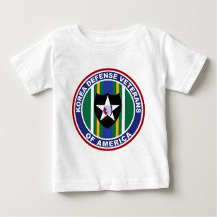 Camiseta Para Bebê Veteranos da defesa de Coreia