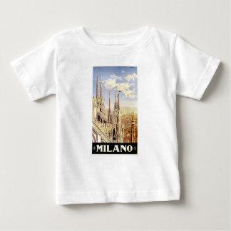 Camiseta Para Bebê Viagem de Palermo do vintage