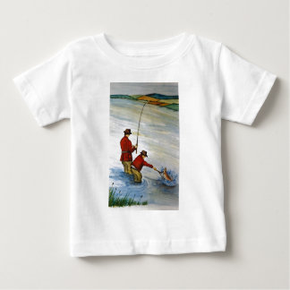 Camiseta Para Bebê Viagem de pesca do pai e do filho
