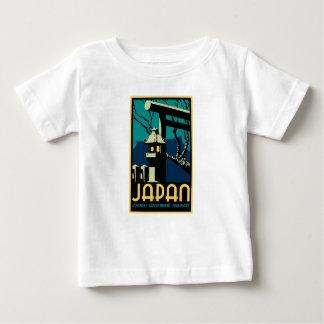 Camiseta Para Bebê Viagem japonês do mundo do vintage das estradas de