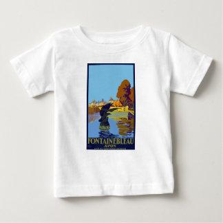 Camiseta Para Bebê Viagens vintage Fontainebleau Paris France