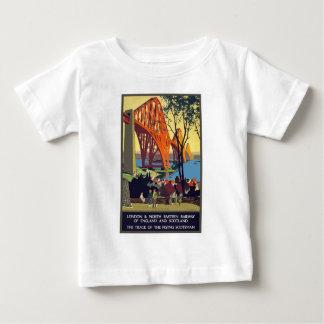 Camiseta Para Bebê Viagens vintage Inglaterra e Scotland