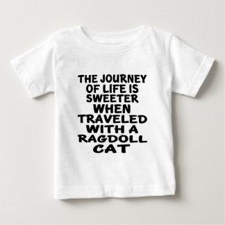 Camiseta Para Bebê Viajado com gato de Ragdoll