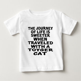 Camiseta Para Bebê Viajado com gato de Toyger
