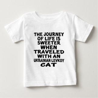 Camiseta Para Bebê Viajado com o gato de Levkoy do ucraniano