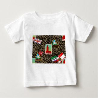 Camiseta Para Bebê viajante de mundo